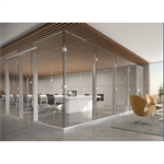 Klarity Freestanding Post & Glass Partition