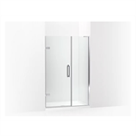 """components™ frameless pivot shower door, 71-3/4"""" h x 45-1/4 - 46"""" w, with 3/8"""" thick crystal clear glass"""