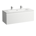 LAUFEN PRO S Combination of washbasin with vanity unit 1200 mm, with drawer and interior drawer