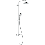 Croma Select E Showerpipe 180 2jet EcoSmart 9 l/min with thermostat 27257400