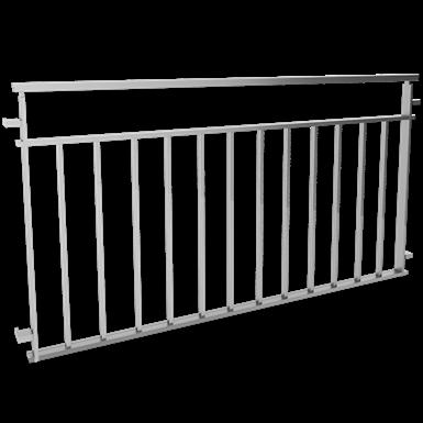 Balustrades with bars under intermediate rail