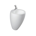 ILBAGNOALESSI ONE Floorstanding washbasin with wall connection 520 mm