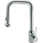 retta kitchen mixer one hole high spout single lever hand with pull out spout