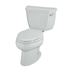 k-3531-tr wellworth® pressure lite® elongated 1.0 gpf toilet with tank cover locks and right-hand trip lever, less seat