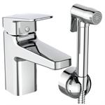 ceraplan basin mixer h75 rim mounted & handspray ablution