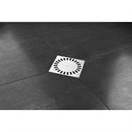 square shaped and flexible flange shower drain - aqua brilliant