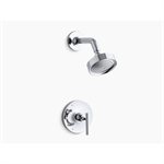 purist® rite-temp® shower valve trim with lever handle and 2.5 gpm showerhead