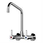 70804 - presto chef wall-mounted mixer tap with 2 holes – upward spout