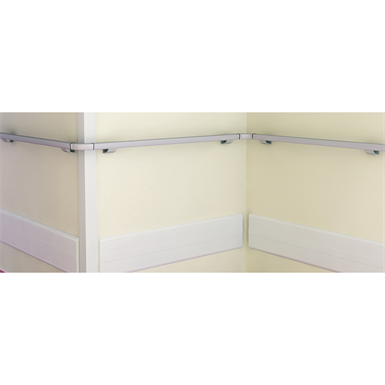 linea'flex - flexible adhesive corner protector with variable angle endcap