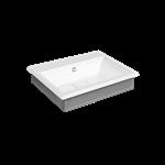 ELEGANZA - Cristalplant®墙装/台面盆,含防溢,外部釉面,预标记三孔。含031号表面处理防溢盖。可安装在46822号柱  - 46812