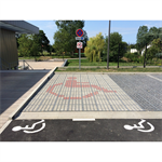 person with reduced mobility parking place