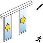 Automatische Schiebetür (Feingerahmt) - 2-flüglig - ohne Seitenteil - SL/PSA