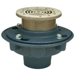 """Z415M Floor and Shower Drain, Z415 Body Assembly with """"Type M"""" Strainer and """"Sur-Set"""" Bucket"""