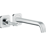 AXOR Citterio E Single lever basin mixer for concealed installation wall-mounted with spout 221 mm and escutcheons 36106000