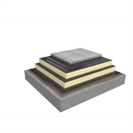 Base KL 2-layer compact roof system for paving slabs on concrete insulated with PIR