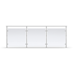 Sectional Railing Glass Top mounted