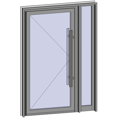 grand trafic doors - anti finger pinch version - single inward opening with right fixed