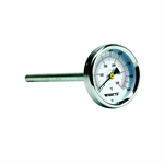 Chimney-Mount, Center, Back-Entry Bimetal Thermometer - TBC