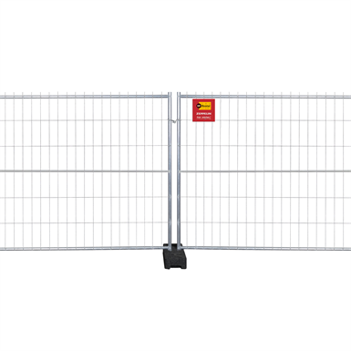metal construction site fencing (height 2m)