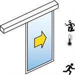 automatische schiebetür (einbruchhemmend rc2/rc3) - 1-flüglig - ohne seitenteil - sl/pst-rc