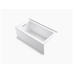 """underscore® 60"""" x 32"""" alcove bath with integral apron, integral flange, and left-hand drain"""