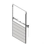 sectional overhead door 601 - pre-assembled vertical lift - 40mm panels