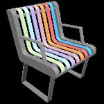 pastel chair