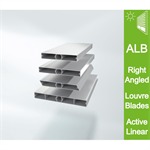 Schüco Right-angled Louvre Blades ALB active linear