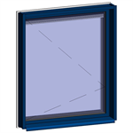 window with breathable leaf