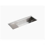 """stages™ 45"""" x 18-1/2"""" x 9-13/16"""" under-mount single-bowl with wet surface area kitchen sink"""