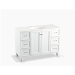 """damask® 48"""" bathroom vanity cabinet with furniture legs, 2 doors and 6 drawers"""