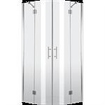 Abelia 4-glass semicircular shower cabin 80 cm