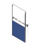 sectional overhead door 601 - pre-assembled vertical lift - 80mm panels