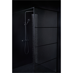 Shower Wall Black 140 cm