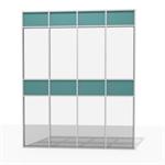 aluminum facade grid - 76% to 100 % transparent