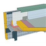 inaccesible flat roofs and inclinated roofs with grooved sheet metal in a low-land climate - csfe - waterproofing generic objects