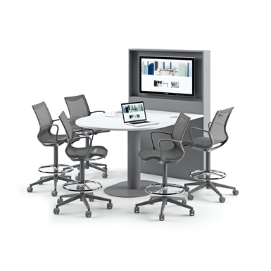 frame - multimedia system with wall-tv and table