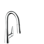M5116-H160 Single lever kitchen mixer with pull-out spray 73850000