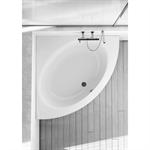 connect bath crn 120x120mm frame pan white