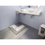 System for installing ceramic in bathrooms and damp areas in general