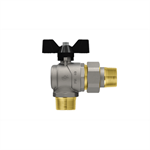 Progress M- Union Pipe right angle ball valve with butterfly handle