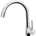 nora kitchen mixer one hole high spout single lever hand with pull out spout, low pressure