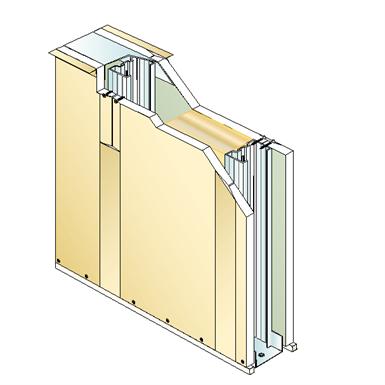 drywall pregymetal 98mm xtra s - ei60 - 49db - siniat