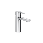 NAIA Smooth body basin mixer mezzo w/ click clack waste, Cold Start