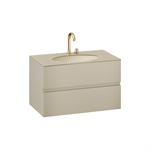 ARMANI - ISLAND 1000 mm wall-hung furniture for under-counter washbasin and deck-mounted basin mixer
