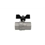 Progress F-F ball valve with butterfly handle