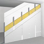 W100/150; EI60; 56dB; Austria; single metal stud frame, double-layer cladding