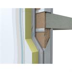 WE322.pt Sistema de isolamento térmico exterior com LM sobre parede Aquapanel