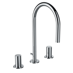 KARTELL BY LAUFEN 3-hole basin mixer, with pop-up waste lever, without pop-up waste