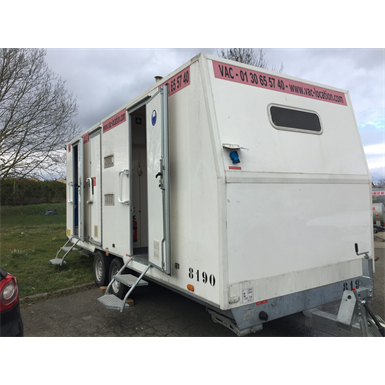 10-person construction trailer with shower
